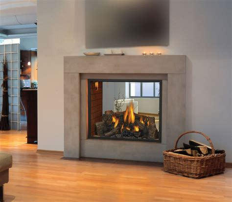 see through gas fireplace napoleon hd81nt gas 60 000 btu see through direct