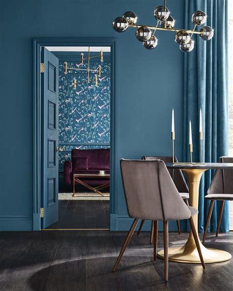 interior color trend  dark teal  design