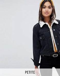 Veste En Jean Doublée Mouton Femme : v tements petite pour femme robes tops et jeans femme petite asos ~ Melissatoandfro.com Idées de Décoration