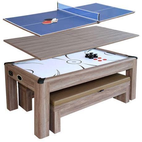 hathaway driftwood  air hockey table combo set