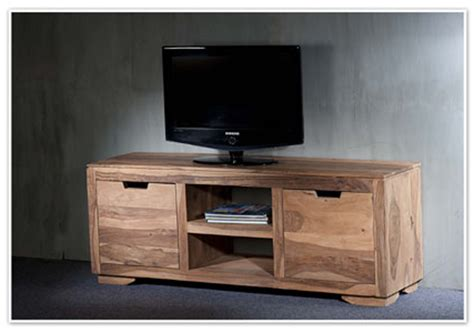 decoration de cuisine en bois meuble tv 2 portes 2 niches naturel saka palissandre naturel