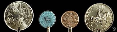 Coins Repeating Pattern Different Shire Kickstarter Four