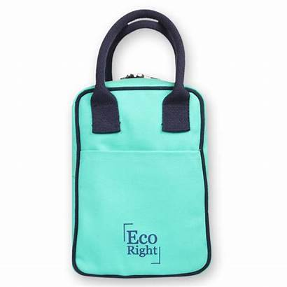 Lunch Canvas Bag Turquoise Tote Ecoright