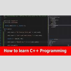 How To Learn C++ Tutorial Youtube