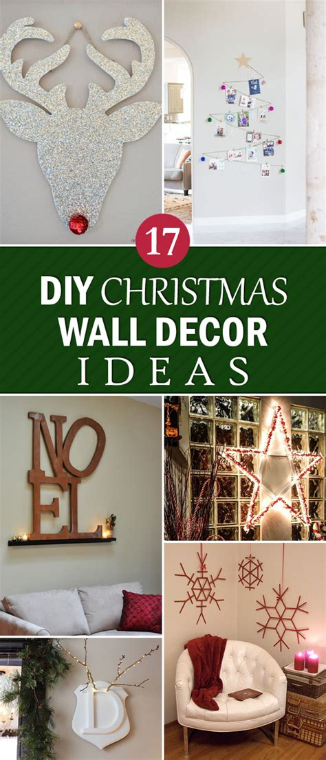 creative diy christmas wall decor ideas