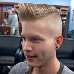 High and Tight Pompadour Fade Haircut