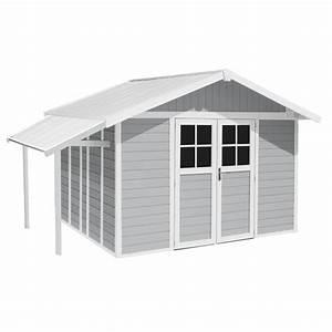 auvent pour abri de jardin en resine grosfillex 264 m2 1 With abri de jardin resine grosfillex