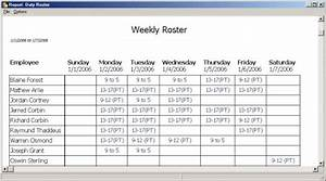 Download annual duty roster template excel manager39s club for Duty schedule template