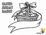 Easter Coloring Basket Pages Baskets Egg Colouring Boys Yescoloring Handsome sketch template