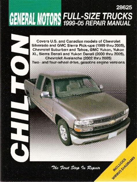 car repair manuals online free 1996 gmc suburban 1500 parking system 1999 2006 chevy gmc avalanche silverado sierra suburban tahoe chilton manual