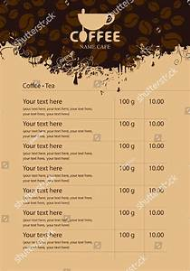 21 coffee menu template designs free premium download With coffee price list template
