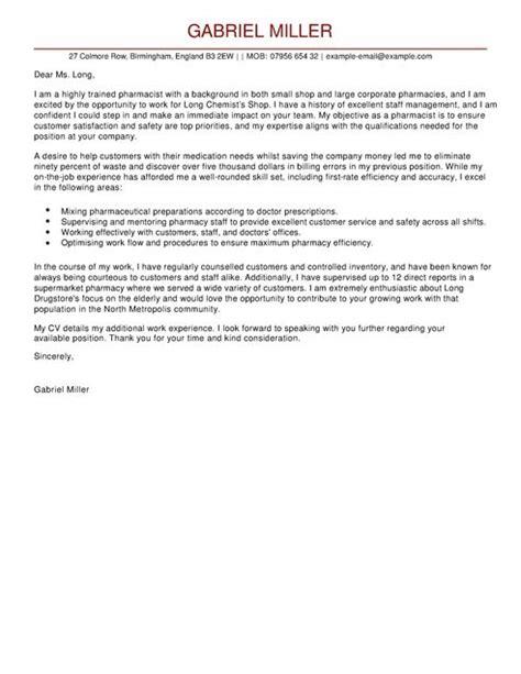 pharmacist cover letter jvwithmenow