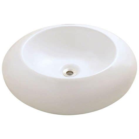 polaris sinks porcelain vessel sink in white p033v w the