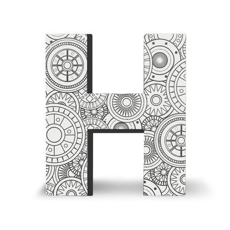 block letter h color block letters h dci gift 54182