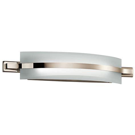 Modern Led Bathroom Sconces by Kichler 42091pnled Freeport Modern Polished Nickel Led