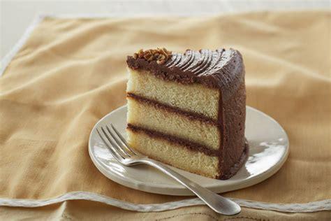 yellow chocolate layer cake piece  cake