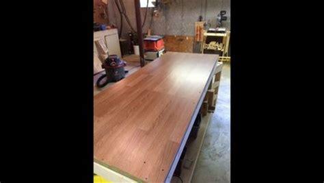 laminate floor workbench top  edscustomwoodcrafts