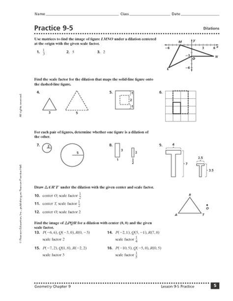dilations math worksheet dilations worksheet activity