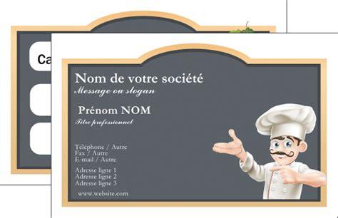faire un tablier de cuisine carte de visite modèle et exemple menu restaurant restaurant français