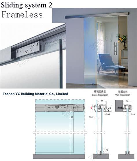 sliding glass door track frameless sliding shower doors