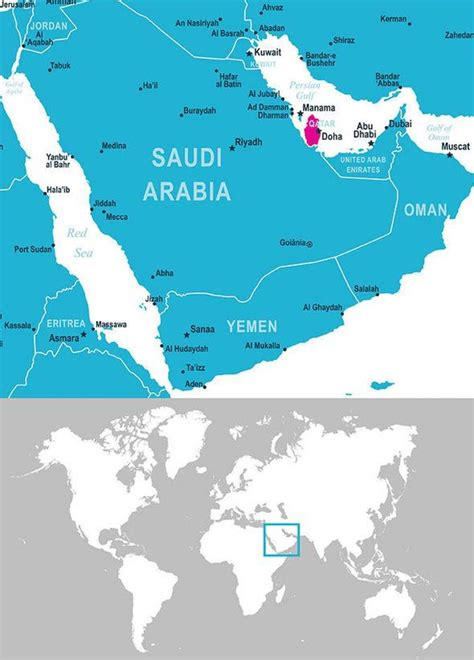 qatar location map map  qatar location western asia