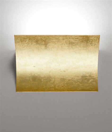 led up down gold leaf wall light