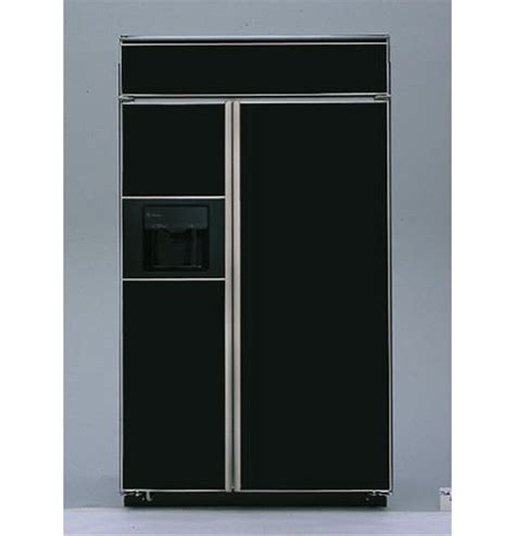 ge monogram  built  side  side refrigerator  black dispenser  smartwater