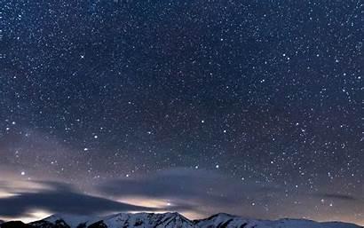 Sky Night Star Space Snow Nature 4k