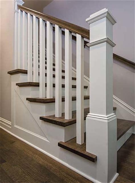 staircase  railing shows  quartersawn oak