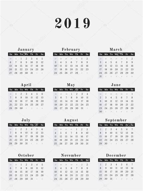 year calendar vertical design stock vector