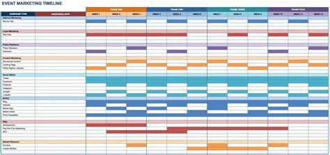 marketing schedule template excel