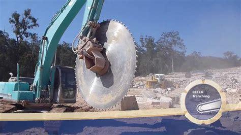 betek trenching block cutter excavator attachement  blade youtube