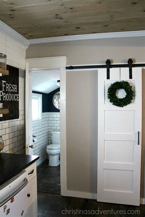 barn sliding door diy sliding barn door christinas adventures
