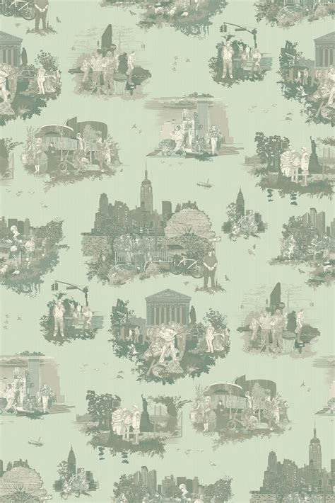 timorous beasties wallcoverings  york toile wallpaper