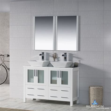 blossom  sydney double sink bathroom vanity  vessel