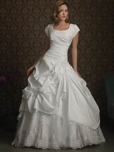 romantic taffeta modest ball gown wedding dress with With modest ball gown wedding dresses