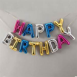happy birthday 16 inch balloon letters by bubblegum With 16 balloon letters