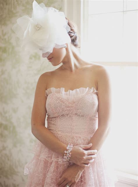 6585 pink lace wedding dress a pink vintage wedding dress 6585