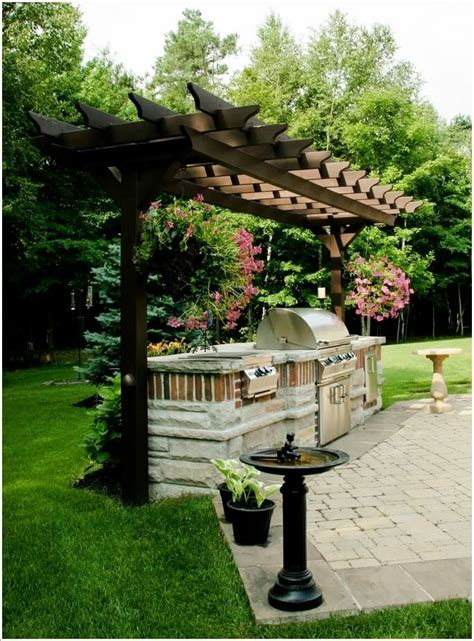 cool ways  design  barbecue grill area