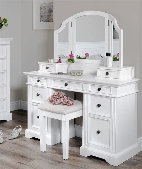 Vanity Table With Mirror And Drawers by Gainsborough White Dressing Table Set Dressing Table