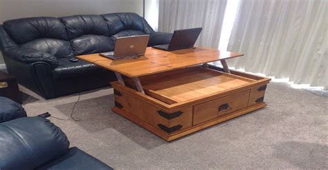 turn  ordinary coffee table   brilliant laptop desk