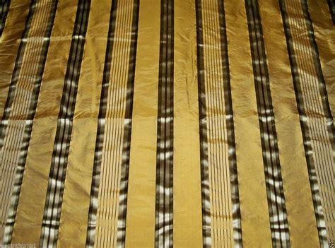 Romann Custom Upholstery by Stroheim Romann Silk Satin Stripe Fabric Bronze