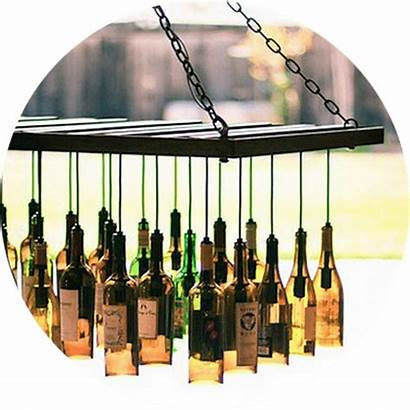Upcycling Wine Diy Bottle Chandelier Decor Event