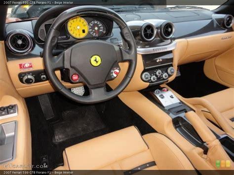 View similar cars and explore different trim configurations. Beige 2007 Ferrari 599 GTB Fiorano Interiors | GTCarLot.com