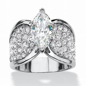 marquise cut and pave cubic zirconia engagement ring 248 With palm beach wedding rings