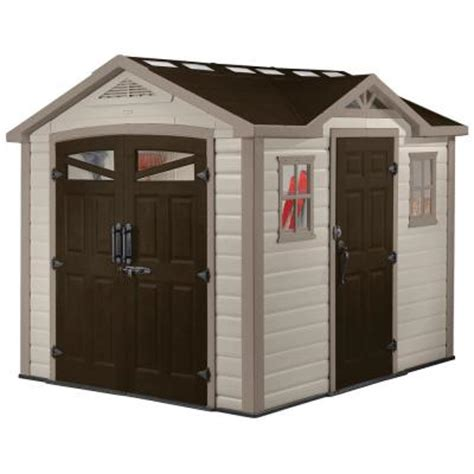 keter 9 ft x 8 ft summit shed 211356 the home depot
