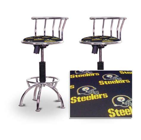 2 pittsburgh steelers chrome adjustable barstools