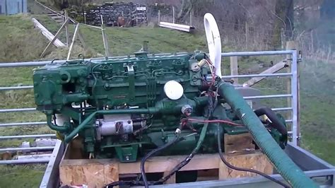 volvo penta mda marine diesel engine starting