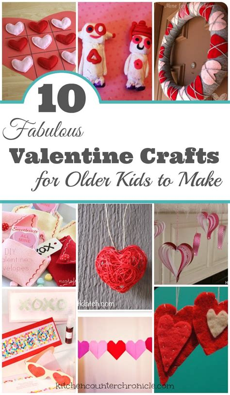 fabulous valentine crafts  tweens