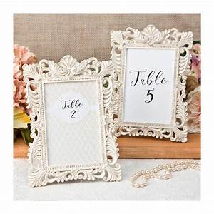 ivory table number frames set of 2 size from tea and becky With wedding favor picture frames